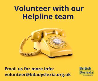 Advertisement: BDA Helpline Volunteer Ad